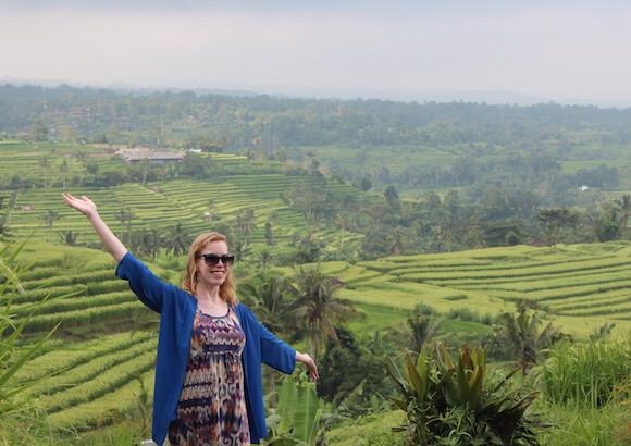 バリ Rice fieldにて
